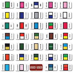 Color-Code  Ring Book, Make Specific - Pkg. of 270 labels - Independent Dealer Services