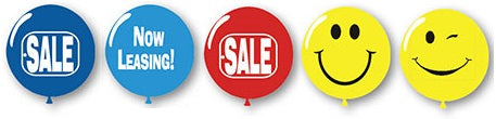 "Jumbo Printed Latex Balloons - 17"" - Qty. 50 - Independent Dealer Services"