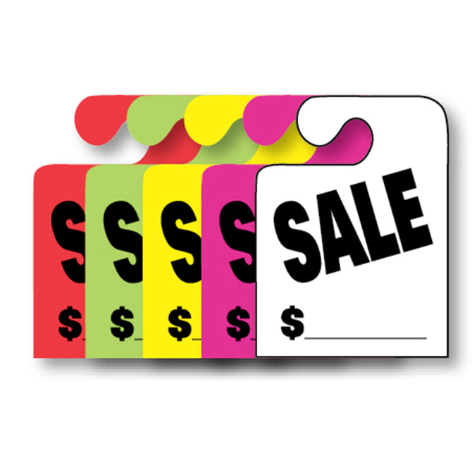 J-Hook Hang Tags - Sale - Large - Qty. 50 - Independent Dealer Services
