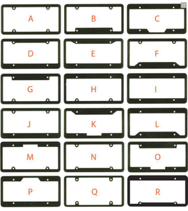 License Plate Frames - Raised Letter - Qty.  1 - Independent Dealer Services