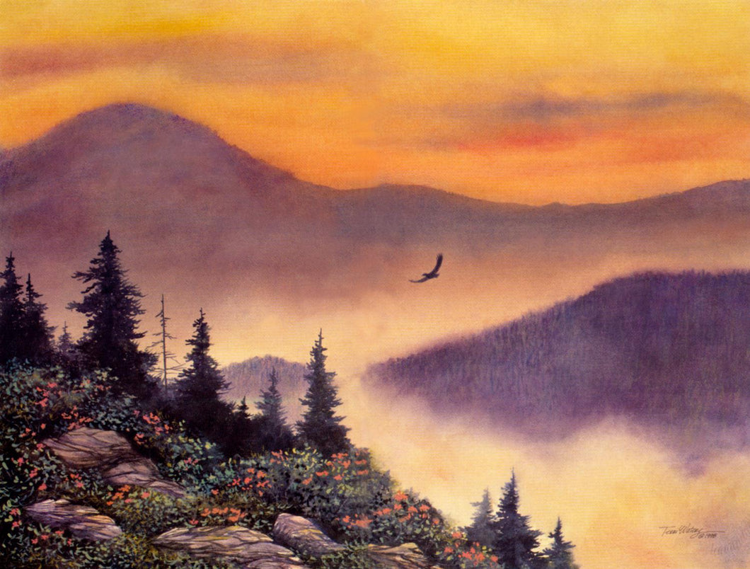 Above the Mist - Watercolor