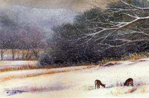 Snow Day - Watercolor