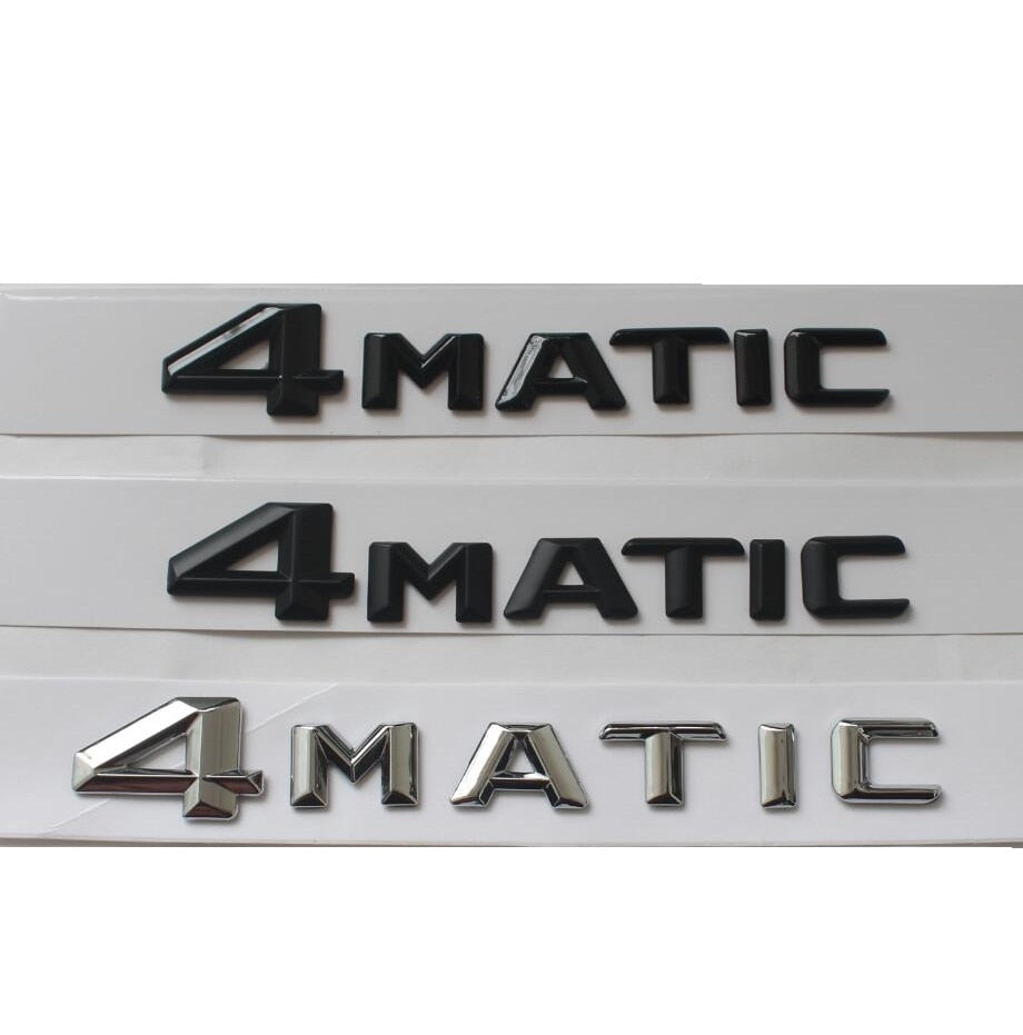 """ 4MATIC "" Car Trunk Rear Letters Word Badge Emblem Letter Badges Emblems for Mercedes Benz Mercedes Benz"