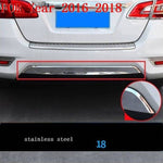 Car Chromium Exterior Sticker Strip Mouldings Accessories Trim 06 07 08 09 10 11 12 13 14 15 16 17 18 19 FOR Nissan Sylphy - Number 9