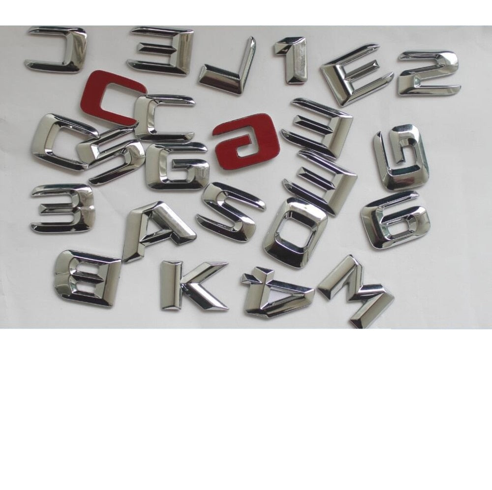 Chrome Plastic Car Trunk Rear Letters Badge Emblem Emblems