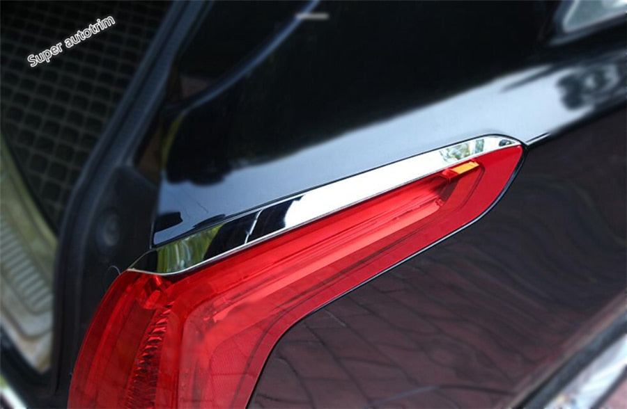 Lapetus Accessories Exterior Rear Tail Tailgate Taillight Light Lamp Eyelid Eyebrow Cover Trim For Cadillac XT5 2016 2017 2018