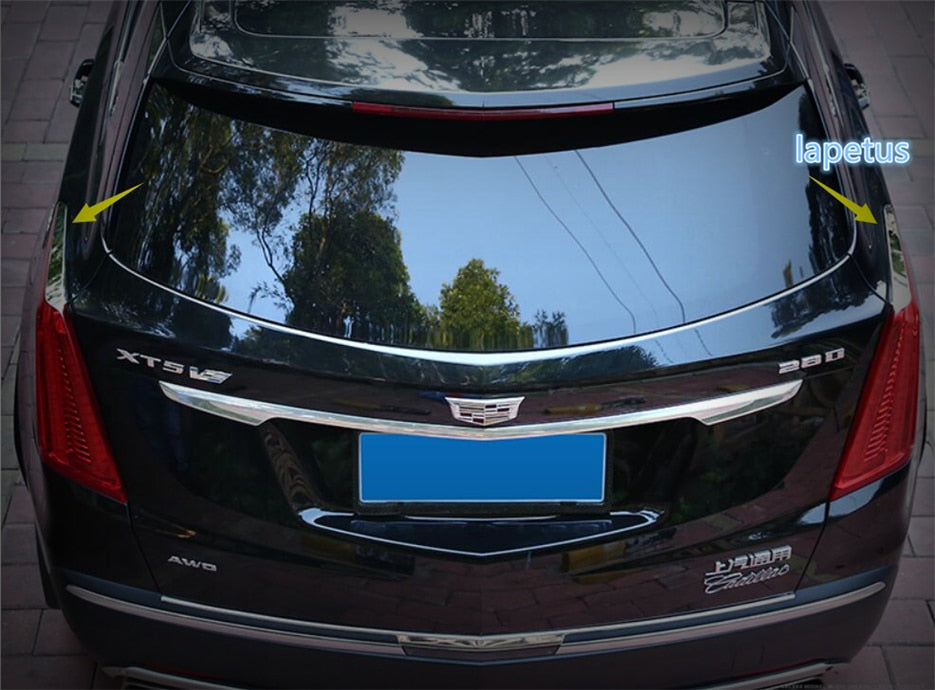 Lapetus Tail Lights Rear Tail Trunk Lamp Eyelid Eyebrow Decoration Frame Cover Trim Fit For Cadillac XT5 2016 2017 2018 2019