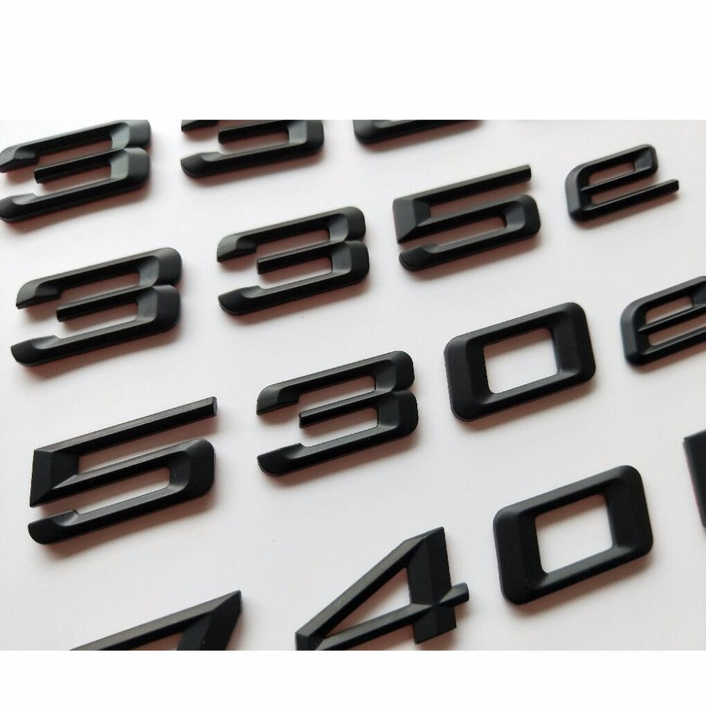 Matte Black Letters Trunk Lid Badges Emblems Emblem Badge Sticker for BMW 325e 330e 335e 520e 528e 530e 550e 740e 740Le 750Le