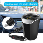 Multifunction 12-24V Auto Car Cigarette Lighter Dual USB Charger Adapter Cup Shaped For Smart Phone Creative Cup 2019