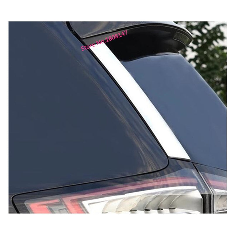 hot sale Car styling body chrome ABS Rear tail Spoiler side triangle Molding window bezel trim 2pcs For Ford EDGE 2015 2016 2017