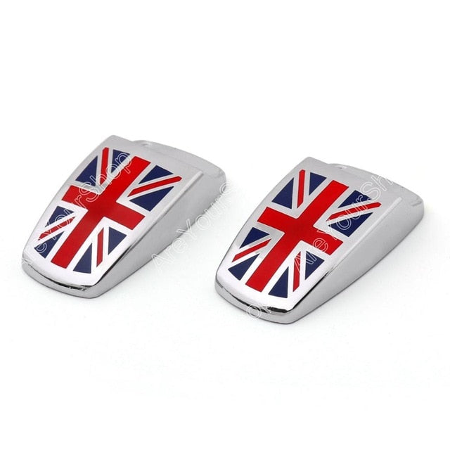 Areyourshop Car stickers Wiper Spray Nozzle Cover for Mini cooper R55 R56 R57 R58 2pcs Union Jack Top Quality