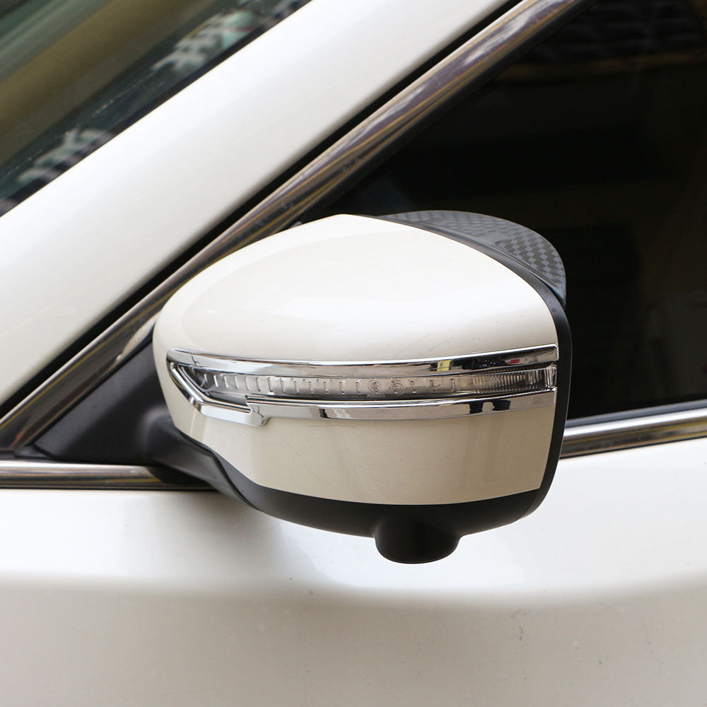 Carmilla Rear Side Mirror Chrome Cover Trim Sticker for Nissan X-trail Xtrail X Trail T32 for Qashqai J11 for Murano 2015 - 2017