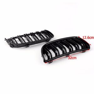 Areyourshop Car Bumper Kidney Double Slat Grille for BMW E90 320i 323i 328i 335i Sedan/Wagon 2004-2007 1Pair Car Styling Cover