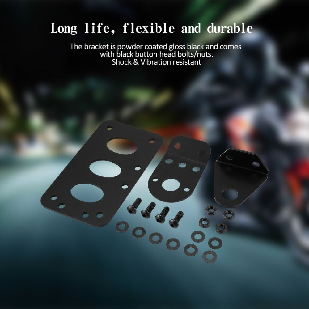 Black Side Mount Motorcycle License Plate Bracket For Harley Chopper Brake Tail Light Forizontally/Vertically Installation