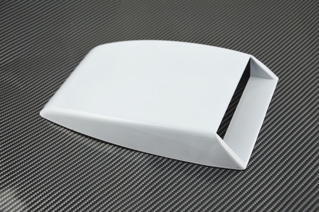 Car Styling Universal Car decorative Air Flow Intake Scoop Turbo Bonnet Vent Cover hood decorate black/white/silver