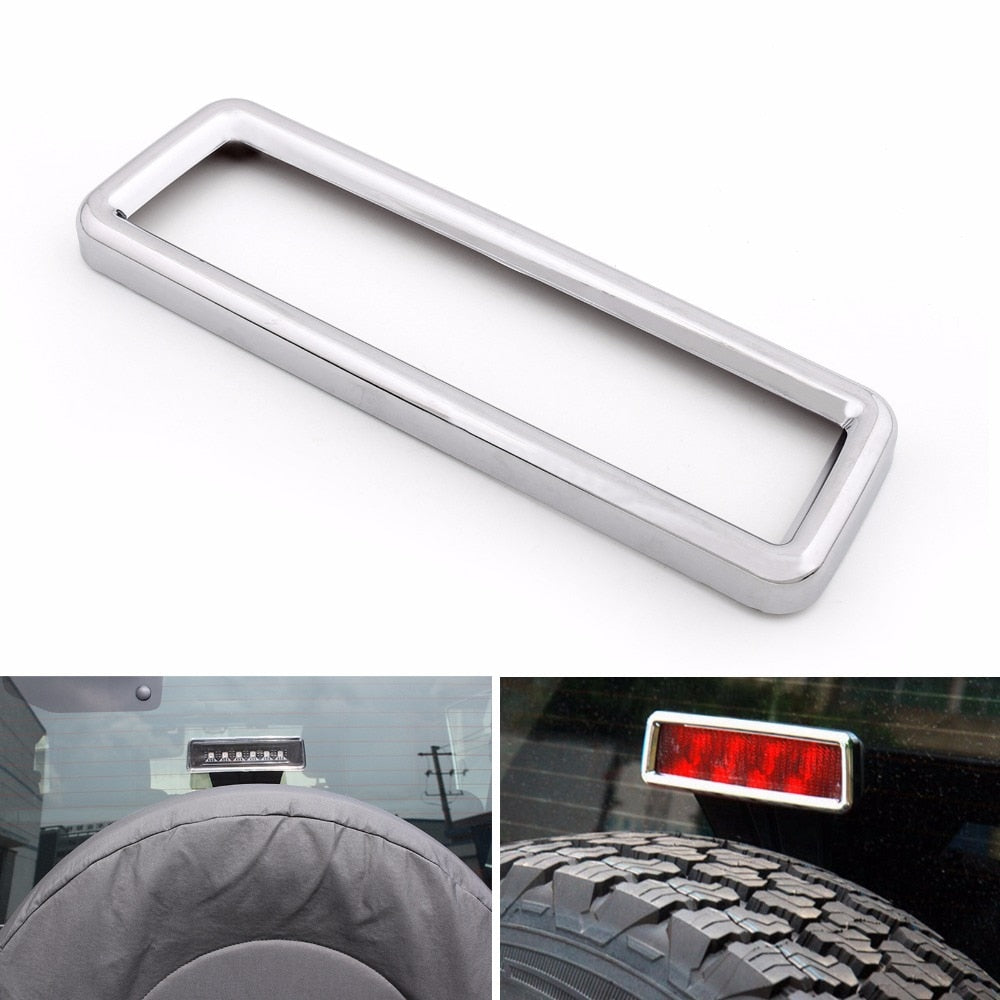 Areyourshop Car Rear Brake Light Cover Frame For Jeep Wrangler JK 2007-2015 Chrome Car Auto Styling Exterior Parts