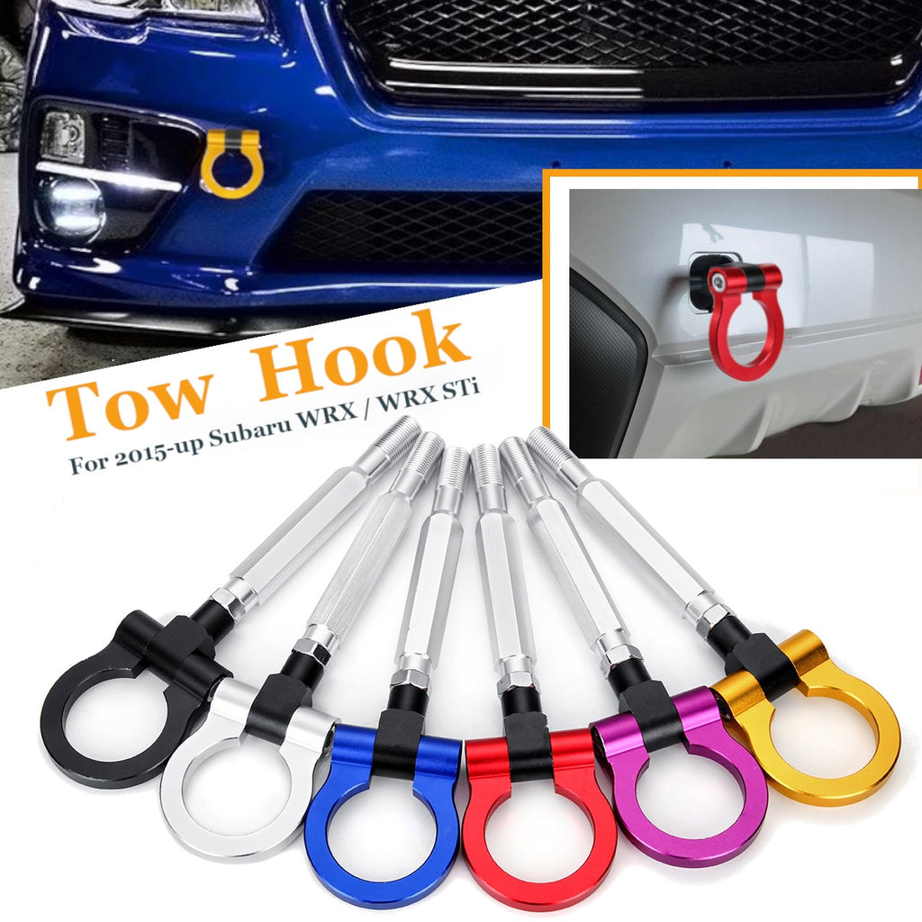 Universal Car Tow Towing Hook Ring Racing Aluminum Front Rear for Subaru WRX STI BRZ 2015-up