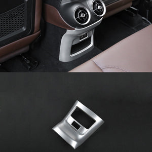 New Interior Accessories For Alfa Romeo Stelvio 2017-2018 ABS Interior Rear Air Vent Outlet Cover Trim 1Pcs Interior Mouldings