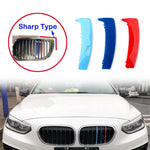 Areyourshop Car 3PCS Kidney Grille M Tech Tricolor Cover Stripe Clips For BMW E87 2004-2011 ABS Plastic Car Styling Covers
