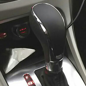 New Black Chrome PU Leather Automatic Transmission Gear Shift Shifter Lever Knob For Opel Vauxhall Insignia Buick Regal