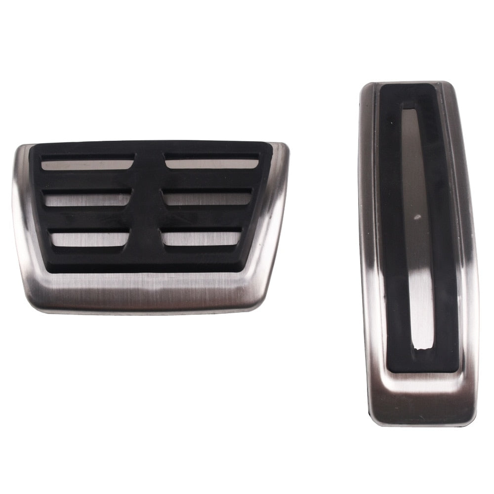 Stainless steel Car Pedal Pads Cover AT case For Audi Q7 SQ7 Porsche Cayenne For VW Touareg