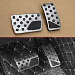 Non-Slip Car Gas Brake Pedal Cover For Dodge Journey Jeep Compass Patriot Stainless Steel Rubber Accelerator Pad Accessories