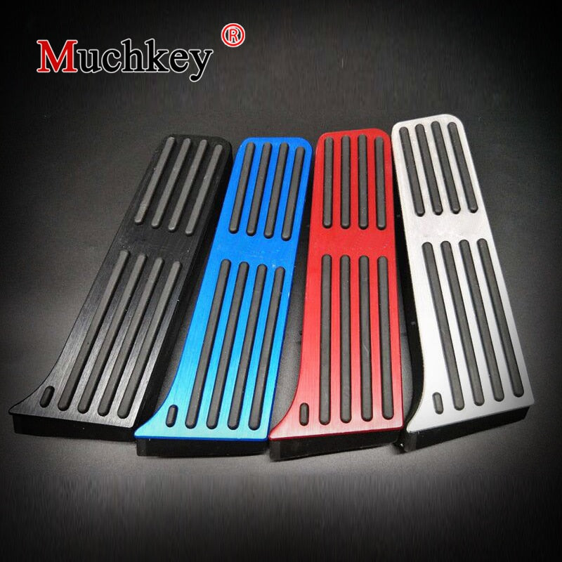 Muchkey Car Interior Accessory For TOYOTA CAMRY AT 2018 Aluminium Alloy Accelerator Gas Brake Pedals Non-slip pads Plates Cover
