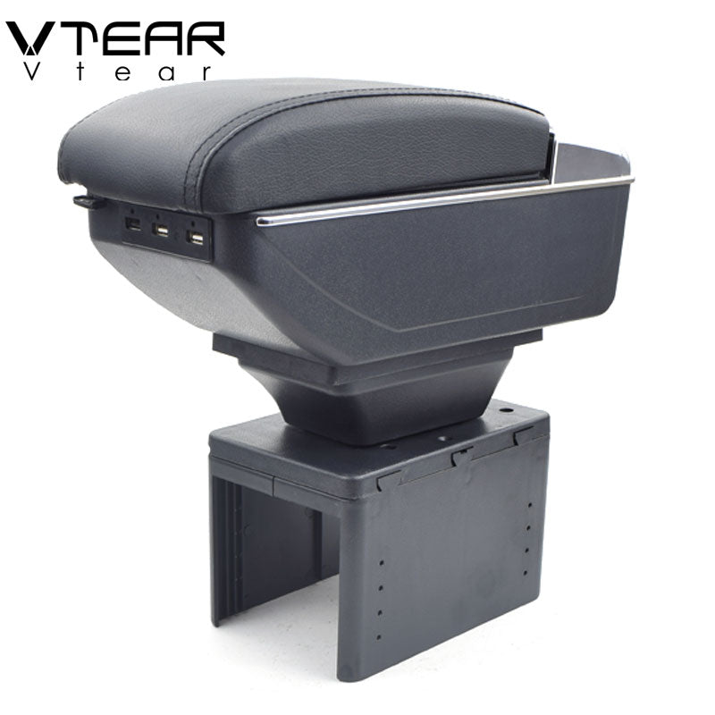 Vtear For Toyota fj cruiser armrest box USB Charging heighten Double layer central Store content cup holder ashtray accessories