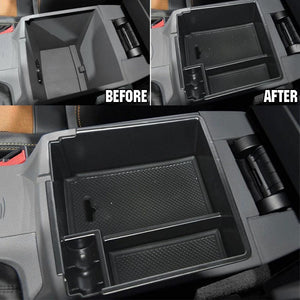 Car Central Armrest Storage Box For Ford Ranger Console Arm Rest Tray Holder Case Pallet 2012-2018