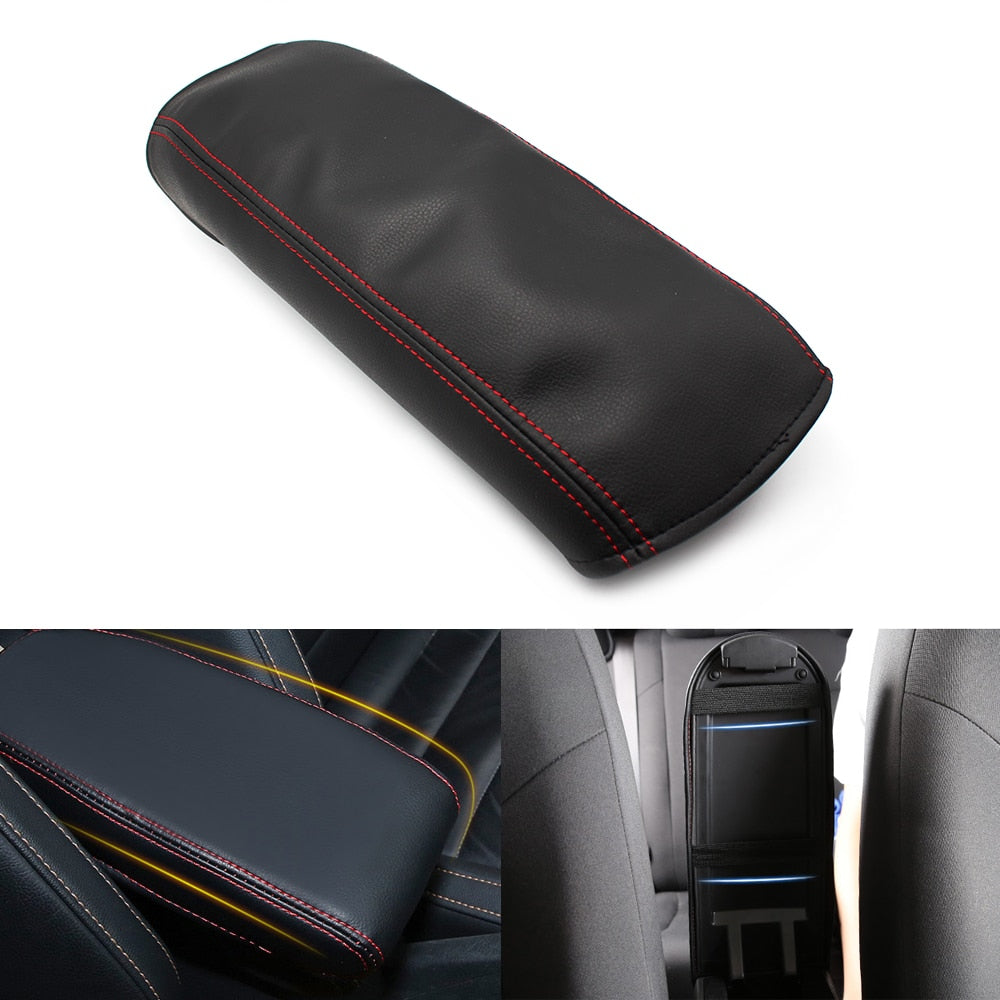 Car Center Console Armrest Box Cover DIY Leather Protection Pad for Honda Civic 8th Gen 2006 2007 2008 2009 2011