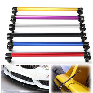 2pcs Universal 200mm Adjustable Front Rear Bumper Lip Splitter Rod Support Bars Exterior Auto Bumper Lip Splitter Rob Bumpers