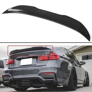Real Carbon Fiber HighKick PSM Style Lid Spoiler Wing Trunk Spoiler Wings Lip for BMW 3 Series Sedan F30 330i 335i 2013-2018