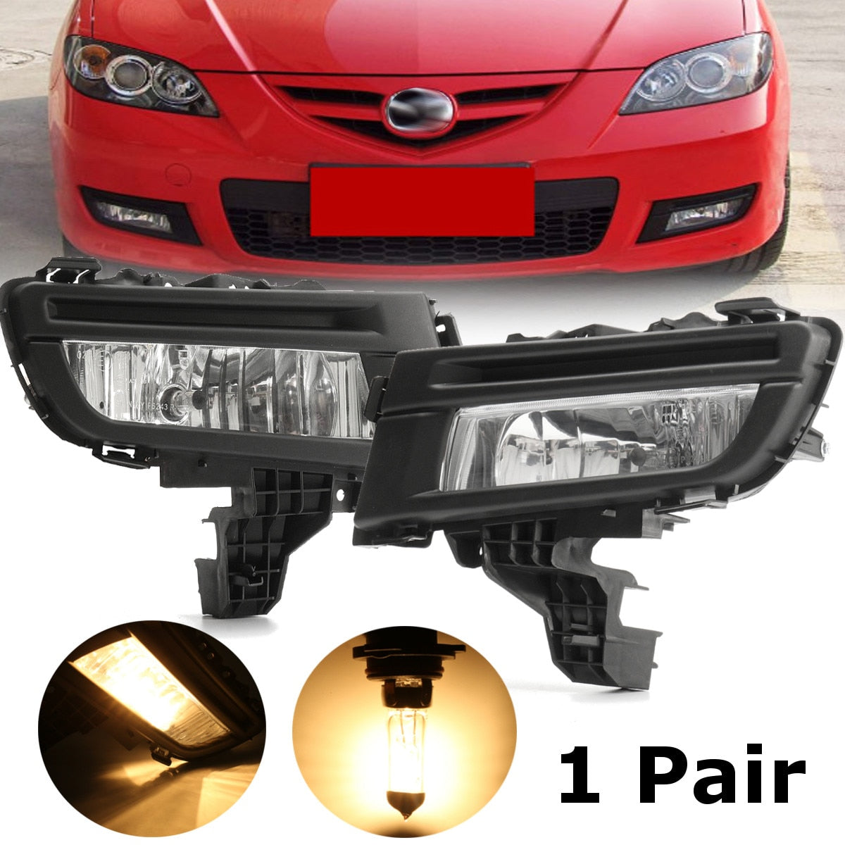 Front Fog Light Lamp 12V 51W Front Left Right Side Replacement For Mazda 3 2007 2008 2009 Car Accessories