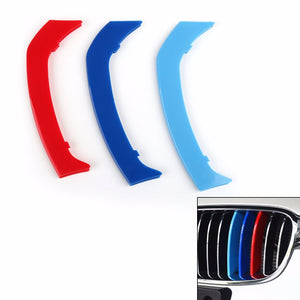 Areyourshop Car Kidney Grille Cover Decal Stripe Clip Trim for BMW 3 Series GT 11rod 2014-2017 High Quality Car Styling Parts