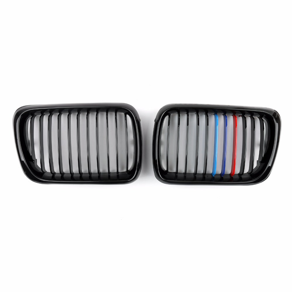 Areyourshop Car Front Kidney Grill Mesh Grille For BMW E36 M3 1997-1999 ABS Plastic High Quality Car-Styling Grille Parts