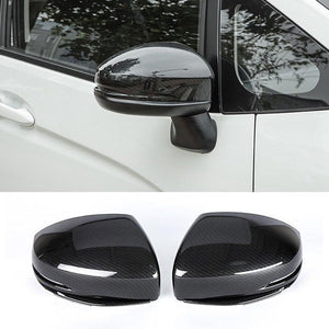 Exterior Parts For Honda FIT JAZZ 2018-19 WITH LED Signal Carbon Fiber Side Mirror Covers 2Pcs New Fashion