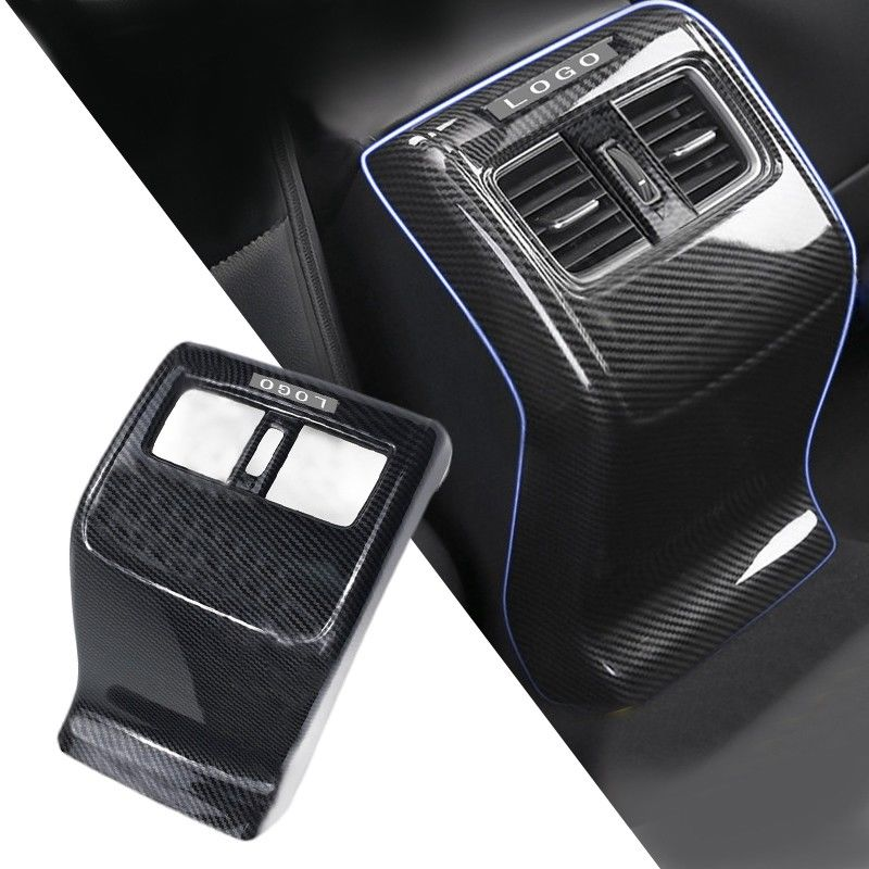 Carbon Fiber ABS Rear Armrest Box Air Vent Outlet Cover Trim Mouldings For Honda Accord 2018 New Fashion Interior Accessories