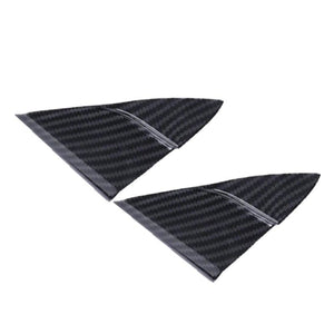 2018 Interior Accessories For Toyota Camry 2018 ABS Carbon Fiber Interior Front Triangle Frame Cover 2PCS New Fashion