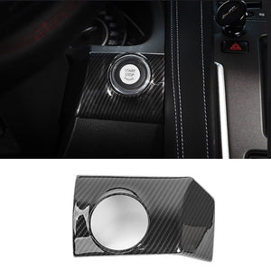 Black Carbon Fiber ABS Engine Start Stop Button Cover Trim for Nissan Patrol Y62 2010-2018 New Interior Mouldings Accessories