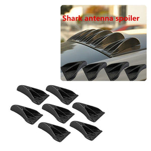 OSIAS 7PCS carbon fiber design-looking color VORTEX GENERATOR FLEXIBLE PP EVO-STYLE ROOF SHARK FINS SPOILER WING KIT UNIVERSAL