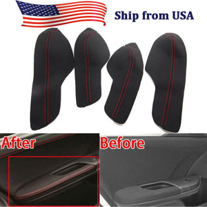 For 10th Honda Civic 2016-2018 Car Door Armrest PU Leather Surface Cover Shell Trim