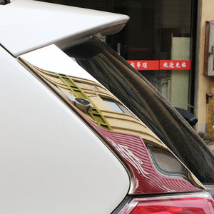 Carmilla 2Pcs/Set Car Rear Window Side Wing Cover Trim Sticker for Nissan X-Trail Xtrail T32 2013 - 2016 Exterior Accessories