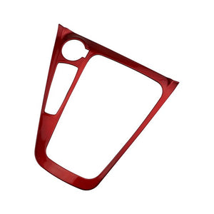 RED PAINTED CARBON FIBER Car Inner Gear Panel Modification Trim Sticker for Ford Focus Mk3 Mk4 2012-2016 2017 2018