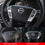 2PCS ABS Steering Wheel Button Cover Trim For Nissan Patrol Y62 2012-2018 Interior Mouldings Accessories New