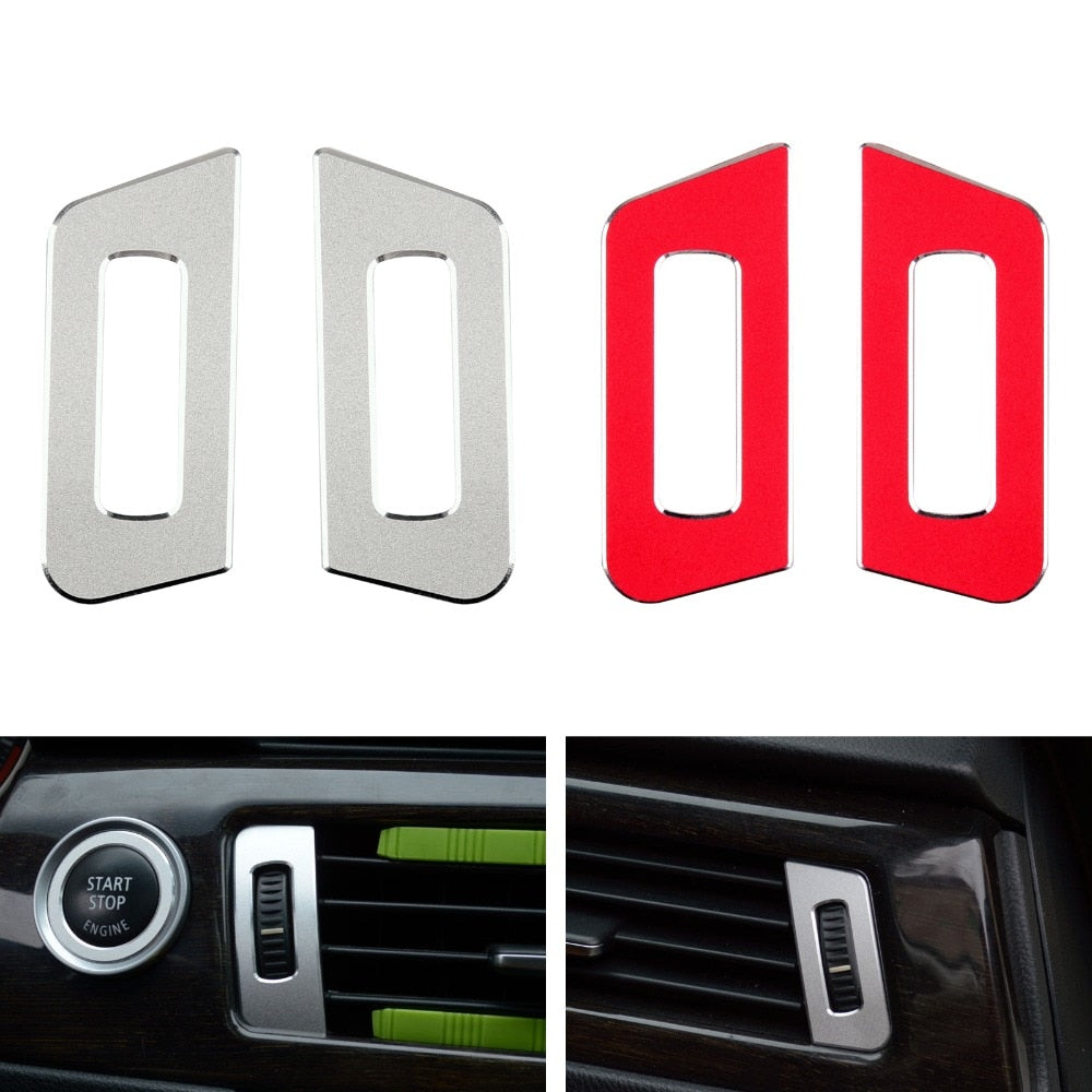 Areyourshop Car For BMW 3 series E90 2008-2012 Air Conditioning Outlet Button Decorative Trim Cover New Auto Styling