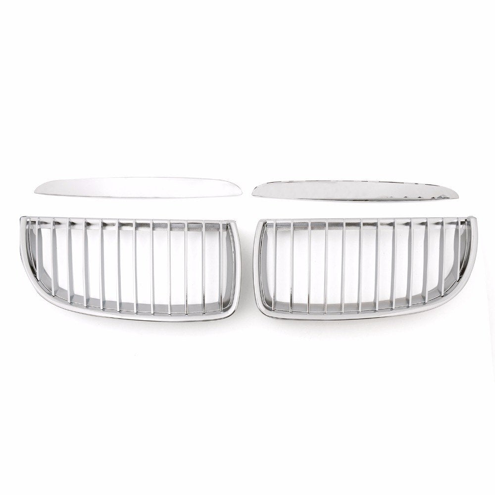 Areyourshop Car Front Kidney Grille Grill For BMW 3 Series E90 E91 325i 328i 2004-2007 Chrome ABS Car Styling Cover Guard