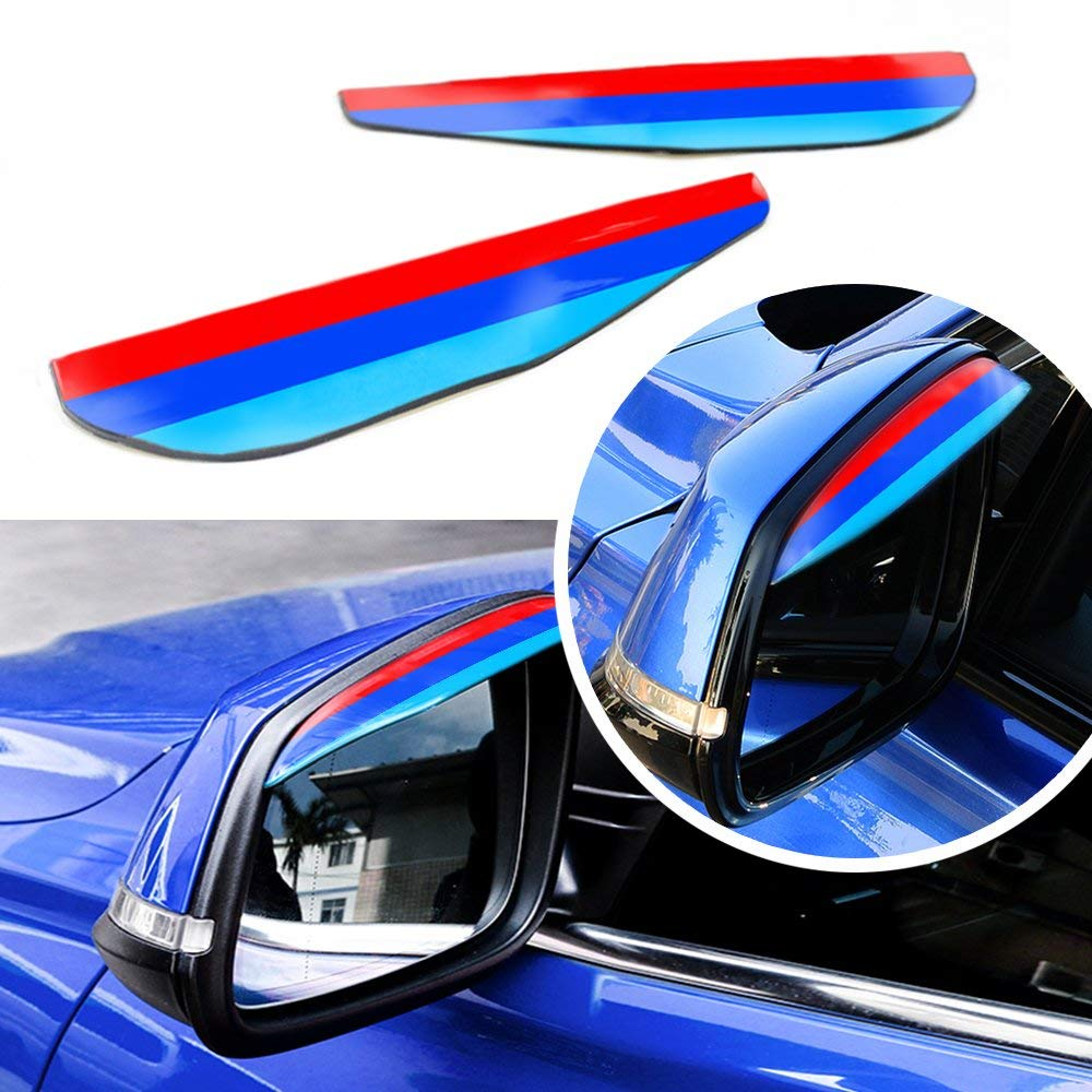 3D M styling Rain Eyebrow Board For BMW 7 series Rain Remover Said Mirror Visor Rainproof G11 G12 740i 740Li 750i 760i etc.2pcs