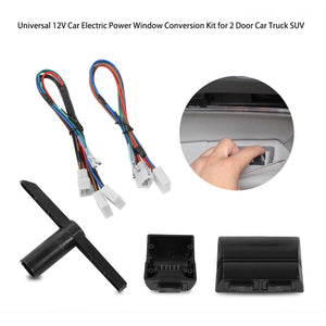 12V Car Electric Power Window Lift Regulator Conversion Kit