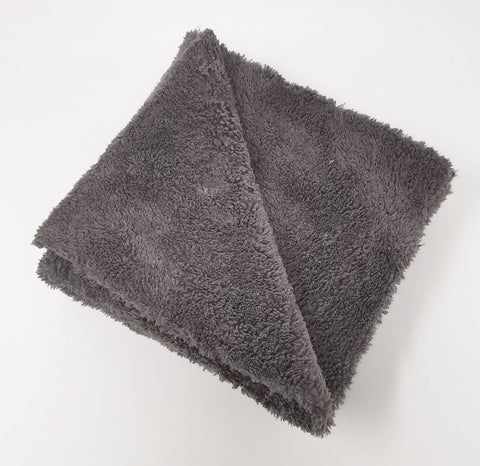 Grey 500 gsm Edgeless Cut Microfibre Towel - www.waxplanet.co.uk