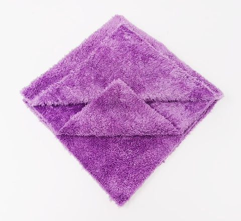 Korean 16 x 16 Plush 400gsm 70/30 Edgeless Microfibre towel - www.waxplanet.co.uk